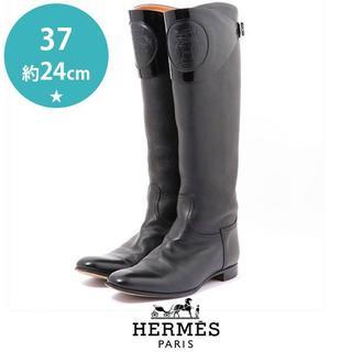 エルメス(Hermes)の美品❤️エルメス ロゴカバー 2way ロングブーツ 37(約24cm)(ブーツ)