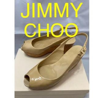 JIMMY CHOO - JIMMY CHOO ジミーチュウ ウェッジソール レザー サンダル