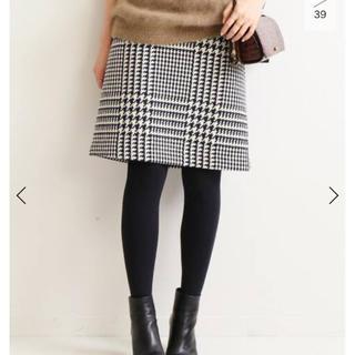 イエナ(IENA)の新品 ロービングチェック台形スカート イエナ IENA(ひざ丈スカート)