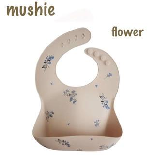 こども ビームス - mushie シリコンビブ お食事スタイ(Lilac flower)