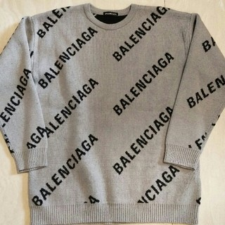 バレンシアガ(Balenciaga)のバレンシアガ ロゴクルーネック ニット セーター(ニット/セーター)