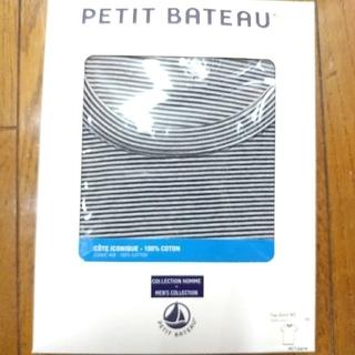 プチバトー(PETIT BATEAU)の【未開封】プチバトー ミラレクルーネック半袖Tシャツ メンズ M 14ANS (Tシャツ/カットソー(半袖/袖なし))