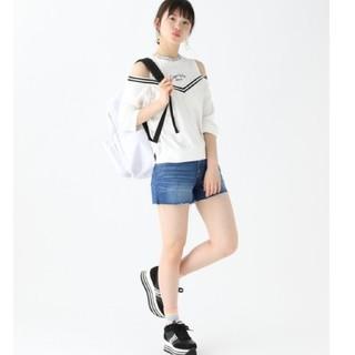 レピピアルマリオ(repipi armario)のrepipi armario 肩あきTシャツ ホワイト Mサイズ(Tシャツ/カットソー)