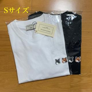 MAISON KITSUNE' - メゾンキツネ ダブルフォックスヘッドパッチ Tシャツ 白黒セット Sサイズ