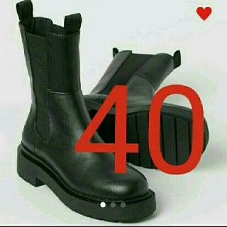 エイチアンドエム(H&M)の40新品 エイチアンドエム h&m VERY掲載ハイプロファイルチェルシーブーツ(ブーツ)