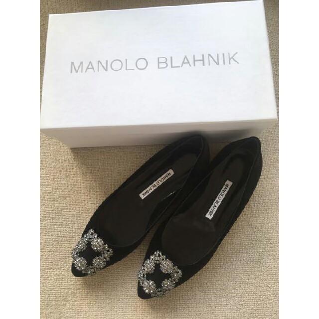 MANOLO BLAHNIK(マノロブラニク)の23cmマノロブラニクハンギシブラック レディースの靴/シューズ(ハイヒール/パンプス)の商品写真
