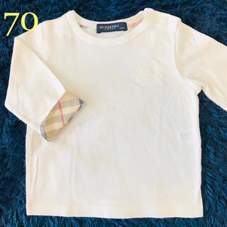 BURBERRY - バーバリー 白 ロンT  70