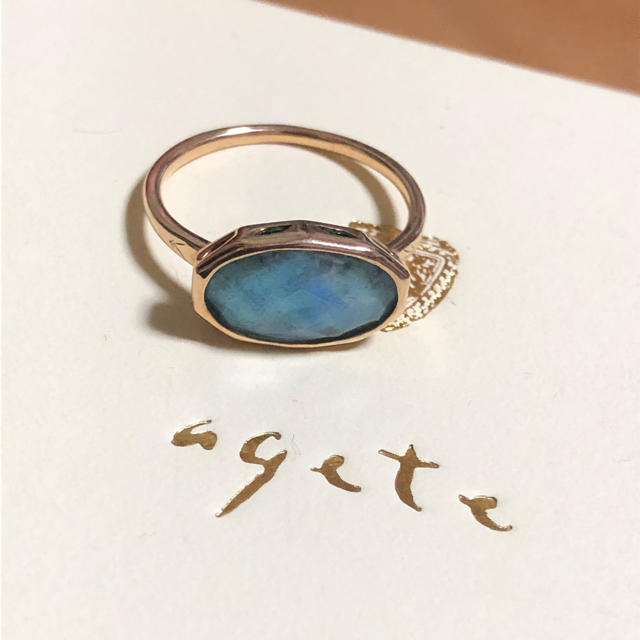 agete(アガット)の【未使用】アガット アズライトリング K10 agete レディースのアクセサリー(リング(指輪))の商品写真