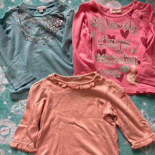 アーヴェヴェ(a.v.v)の女の子 Tシャツ ロンT  90サイズ 3枚セット a.v.v  ティンカーベル(Tシャツ/カットソー)