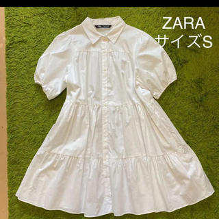 ZARA - ZaraパフスリーブAラインワンピ