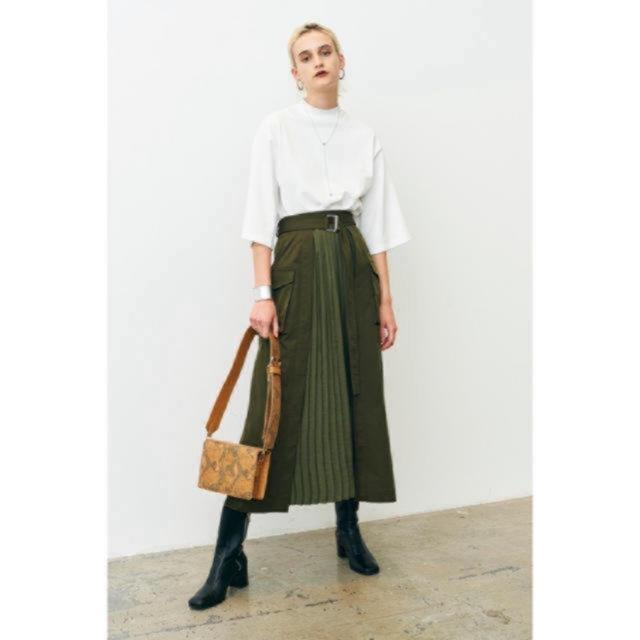 STUDIOUS(ステュディオス)のclane ミリタリープリーツドッキングスカート 2 レディースのスカート(ロングスカート)の商品写真