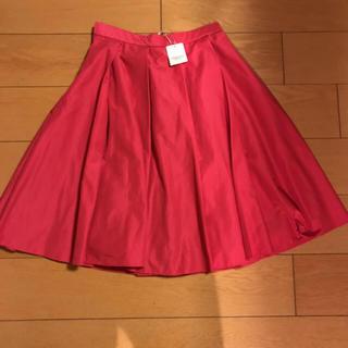ストロベリーフィールズ(STRAWBERRY-FIELDS)の新品!ストロベリーフィールズの鮮やかスカート(ひざ丈スカート)