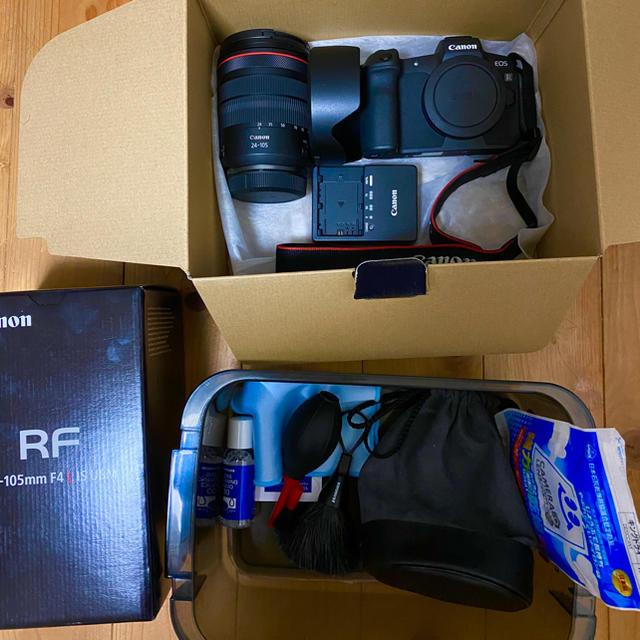 Canon(キヤノン)の専用 EOS R ボディ+レンズ RF24-105+防湿庫 スマホ/家電/カメラのカメラ(ミラーレス一眼)の商品写真