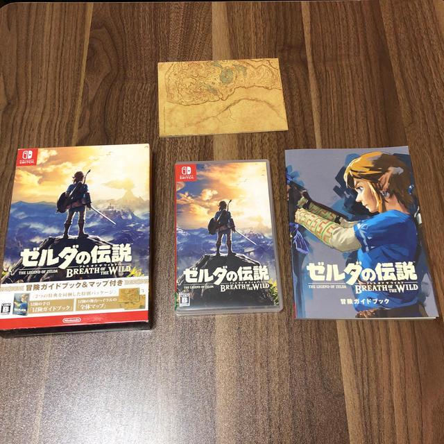 Nintendo Switch(ニンテンドースイッチ)のゼルダの伝説 ブレスオブザワイルド 冒険ガイドブック付き スイッチ Switch エンタメ/ホビーのゲームソフト/ゲーム機本体(家庭用ゲームソフト)の商品写真