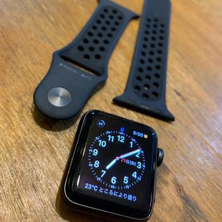 Apple Watch - Apple Watch Nike+ 38mm スペースグレイ ブラック モデル