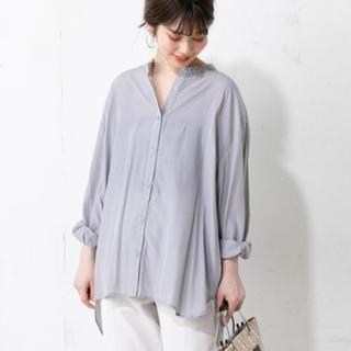 ナチュラルクチュール(natural couture)のナチュラルクチュール やわらか微光沢バンドカラーシャツ(シャツ/ブラウス(長袖/七分))