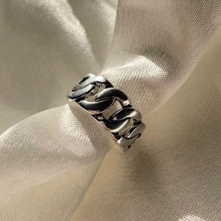 マルタンマルジェラ(Maison Martin Margiela)のSilver plating ring -Chain ring-(リング(指輪))