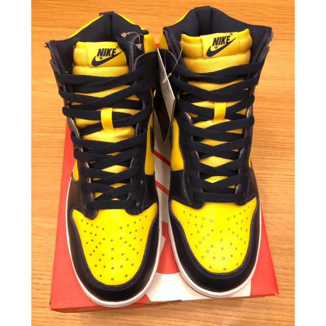 NIKE(ナイキ)のNike dunk High Michigan ナイキ ダンク ミシガン  メンズの靴/シューズ(スニーカー)の商品写真
