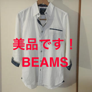 ビームス(BEAMS)の美品です!人気の BEAMS 花柄 コットン 七分袖シャツ 上品です(シャツ)