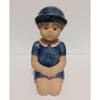 リサラーソン(Lisa Larson)の【最終価格】リサ・ラーソン  リトルガール Skulpturerシリーズ(置物)
