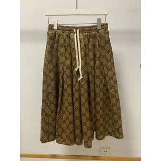 グッチ(Gucci)の【GUCCI】GGテクニカルジャージースカート(ひざ丈スカート)