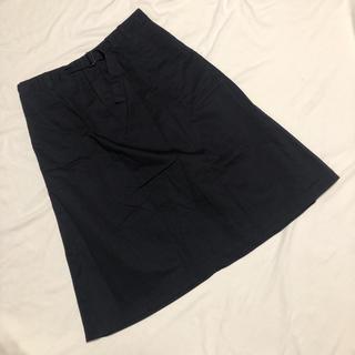 マーガレットハウエル(MARGARET HOWELL)のマーガレットハウエル 膝下 コットン スカート 2 美品(ひざ丈スカート)