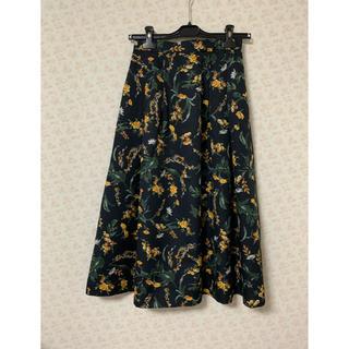 イエナスローブ(IENA SLOBE)のslobe iena 花柄スカート(ひざ丈スカート)