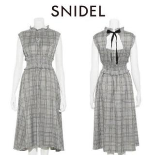 snidel - 大人気商品 SNIDEL♡ウエストシャーリングワンピース