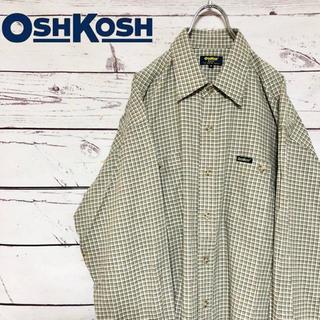 オシュコシュ(OshKosh)のOSHKOSH オシュコシュ ダブルポケット チェックシャツ ベージュ M(シャツ)
