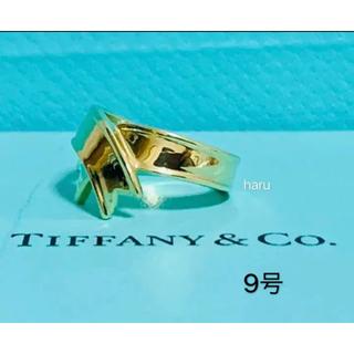 Tiffany & Co. - 希少美品ティファニーリボンリング K18YG 6.2g