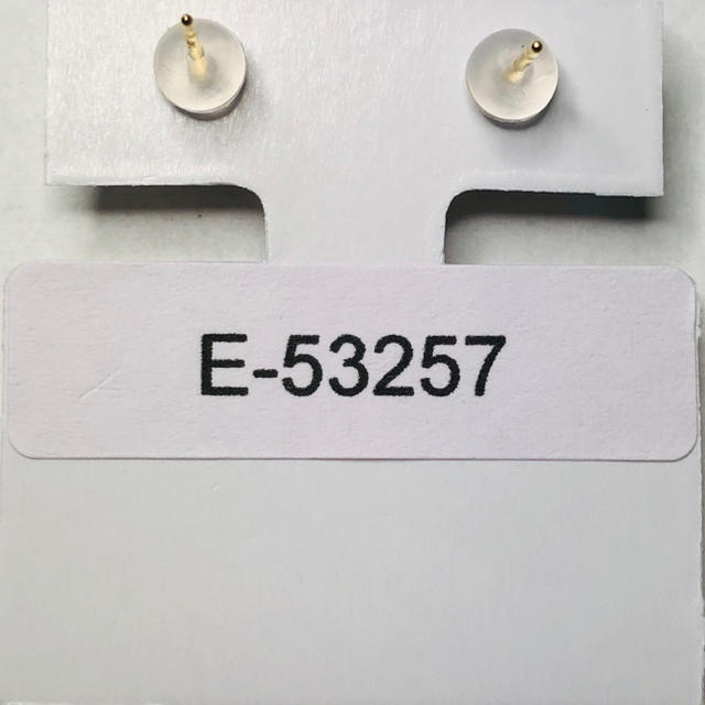 E-52057 + catch K18YG   ピアス シトリン AANI アニ レディースのアクセサリー(ピアス)の商品写真