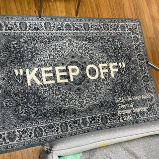 オフホワイト(OFF-WHITE)のIKEA  ヴァージルアブロー コラボ ラグ KEEP OFF(ラグ)