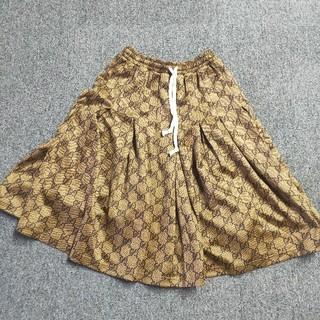 グッチ(Gucci)の【GUCCI】GGテクニカルジャージースカート(ロングスカート)