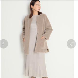 Mila Owen - 新品未使用 MilaOwen ノーカラーシャツカーブボアジャケット