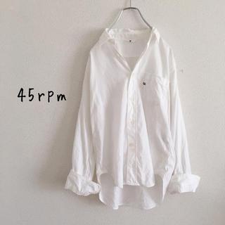 45rpm - 45rpm オックスフォード コットンシャツ