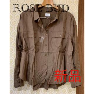 ローズバッド(ROSE BUD)の新品 ローズバッド ROSE BUD ミリタリーシャツ シャツ ブラウス(シャツ/ブラウス(長袖/七分))