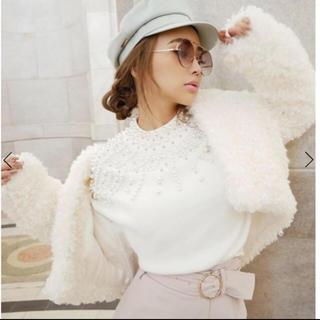 エイミーイストワール(eimy istoire)のeimyistoire♡プードルショートジャケット (毛皮/ファーコート)