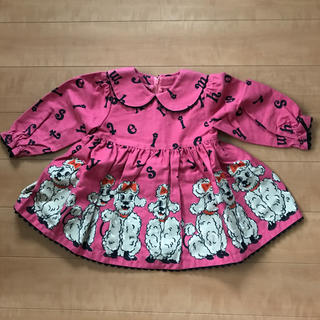 シャーリーテンプル(Shirley Temple)のシャーリー 80 ワンピース プードル ピンク(ワンピース)