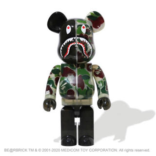 アベイシングエイプ(A BATHING APE)のBE@RBRICK CLEAR ABC CAMO SHARK 1000% (その他)