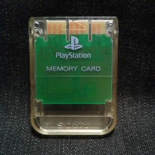 プレイステーション(PlayStation)のAZ000 PS1メモリーカード1個 ソニー純正 即購入歓迎  動確初期化済(家庭用ゲーム機本体)