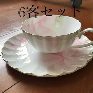 ニッコー(NIKKO)の6客セット NIKKO FINE BONE CHINA ティーカップ&ソーサー(食器)