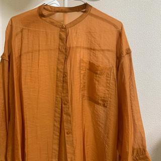 Kastane - オレンジカラーシアーシャツ