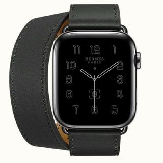 エルメス(Hermes)の限定最新★44㎜ドゥブルトゥール★ブラック★アップルウォッチエルメス シリーズ6(腕時計(デジタル))