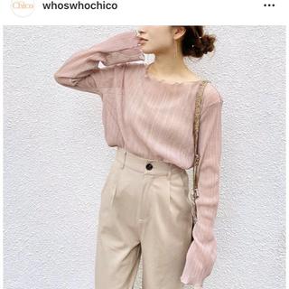 who's who Chico - 【新品】who'swhochico プリーツメロウブラウス ピンク
