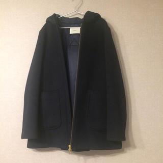 IENA - イエナ フード付きショートコート 濃紺
