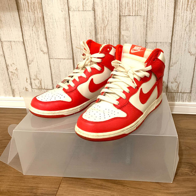 NIKE(ナイキ)のとみちゃんさん専用 NIKE DUNK ナイキ ダンク 白 赤 26.5 メンズの靴/シューズ(スニーカー)の商品写真