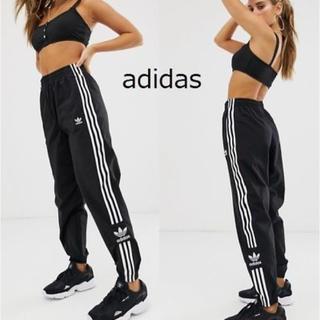 adidas - adidas アディダス 3ストライプ ロゴ ジョガー トラック パンツ