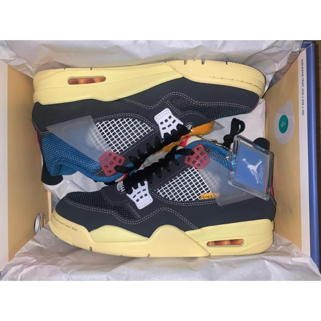 NIKE(ナイキ)のunion×jordan4 off noir ユニオン×ジョーダン4 メンズの靴/シューズ(スニーカー)の商品写真