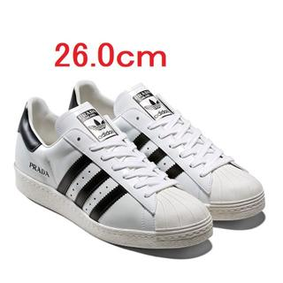 PRADA - 新品 prada adidas Superstar ホワイト 26.0cm