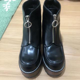 ジーナシス(JEANASIS)のジーナシス フロント ジップ 厚底ブーツ(ブーツ)